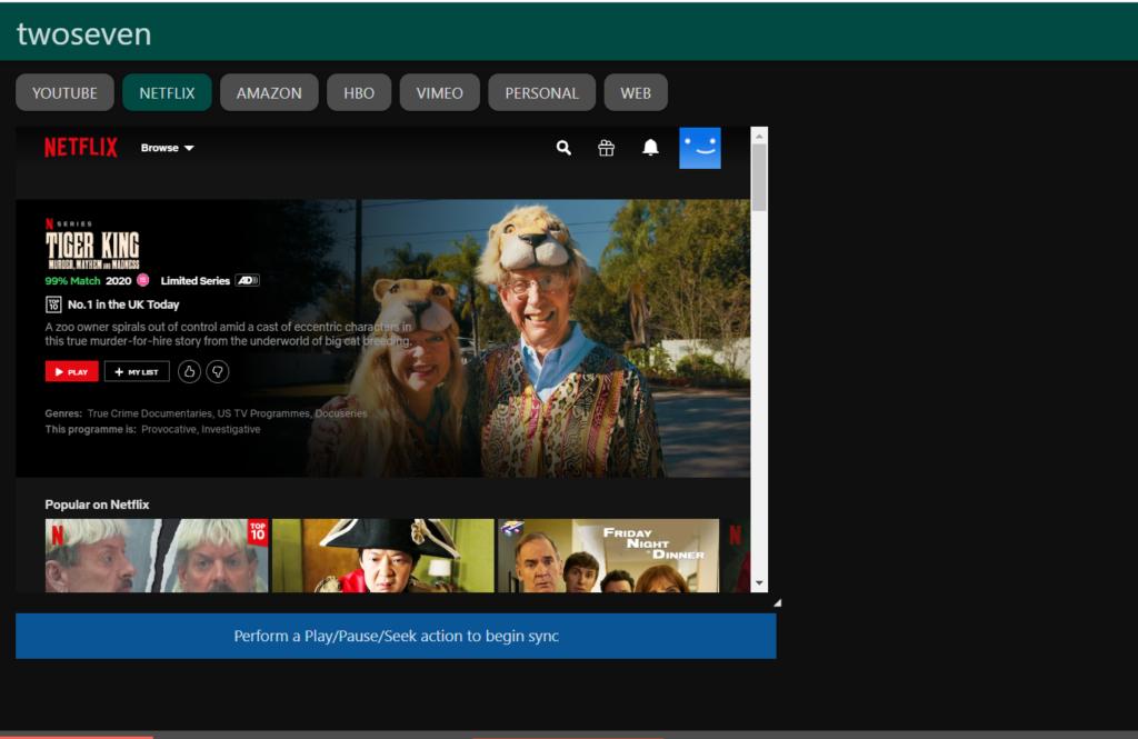 TwoSeven - 4 ferramentas on-line para ver séries e filmes com amigos